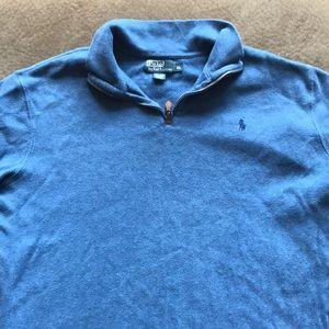 Polo Ralph Lauren light blue quarter zip. XL.